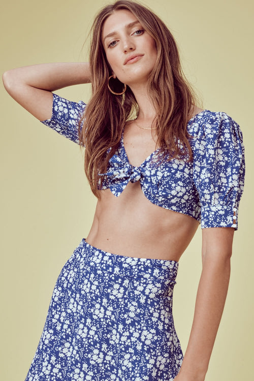 For Love and Lemons Zamira Floral Mini Skirt