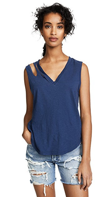 LNA Double Cut V Tank Top
