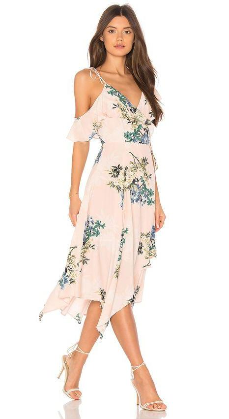 ASTR Yessenia Floral Wrap Dress