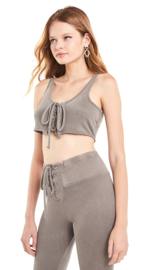 Wildfox Cady Tied Up Crop Tank Top