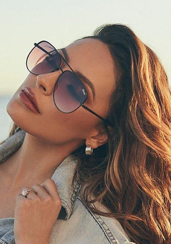 Quay x Kylie Iconic Aviator Black Sunglasses