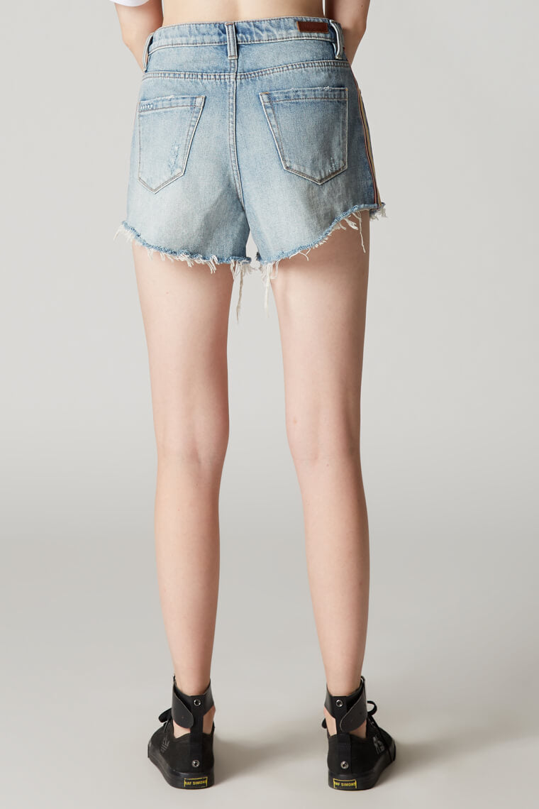 Blank NYC Now or Never Stripe High Rise Jean Shorts