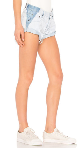 One Teaspoon High Waist Rocky Bonita Jean Shorts