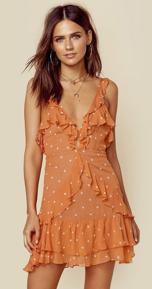 For Love and Lemons Analisa Polka Dot Tank Dress