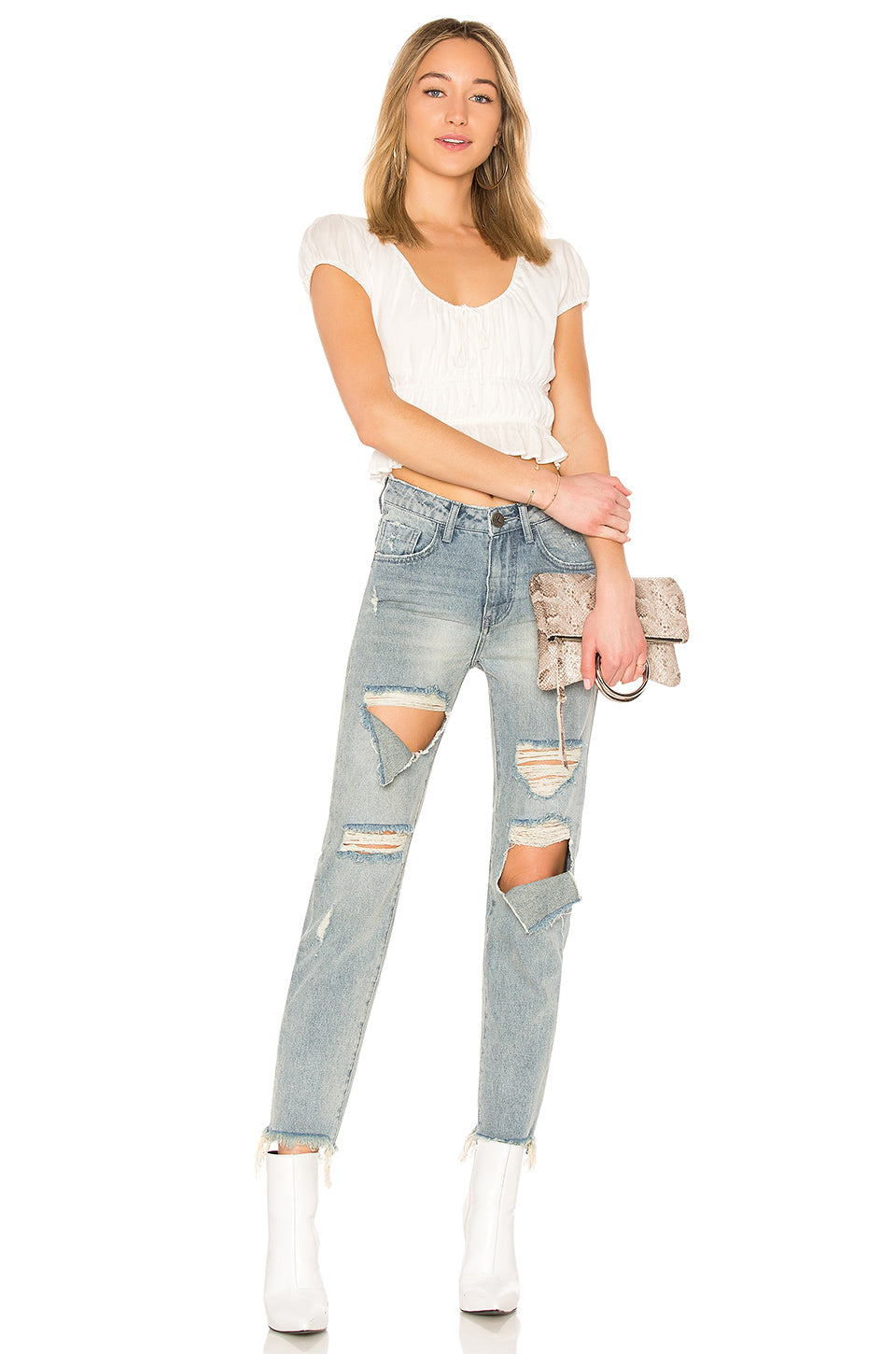 abe163a370 One Teaspoon Blue Storm High Waist Awesome Baggies Jeans – Bliss Bandits
