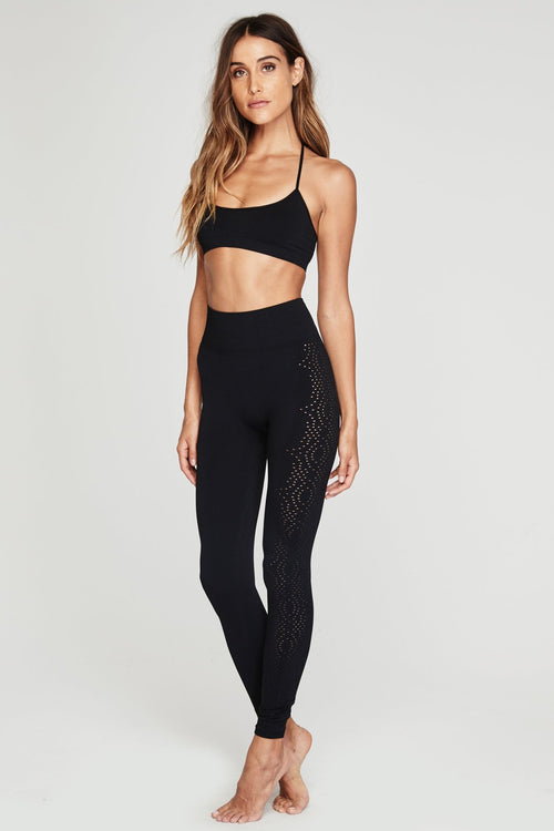 Spiritual Gangster Seamless Open Mesh Leggings
