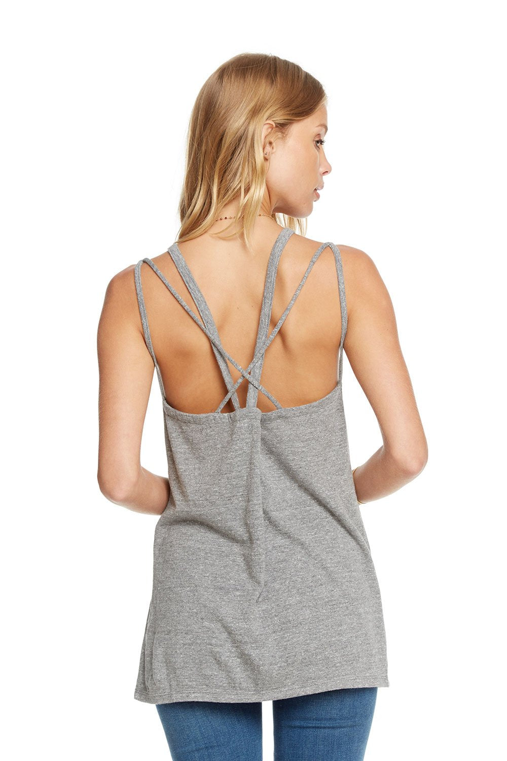 Chaser Triblend Strappy Back Cut Out Tank