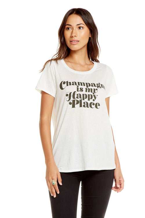Chaser Happy Champagne Tee Shirt