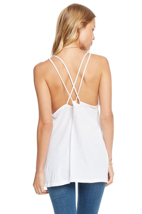 Chaser Scoop Neck Strappy Back Tank Top
