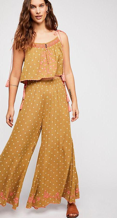 Free People Hearts Rising Embroidered Set