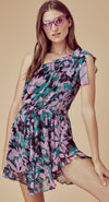 For Love and Lemons Maritza Floral One Shoulder Dress