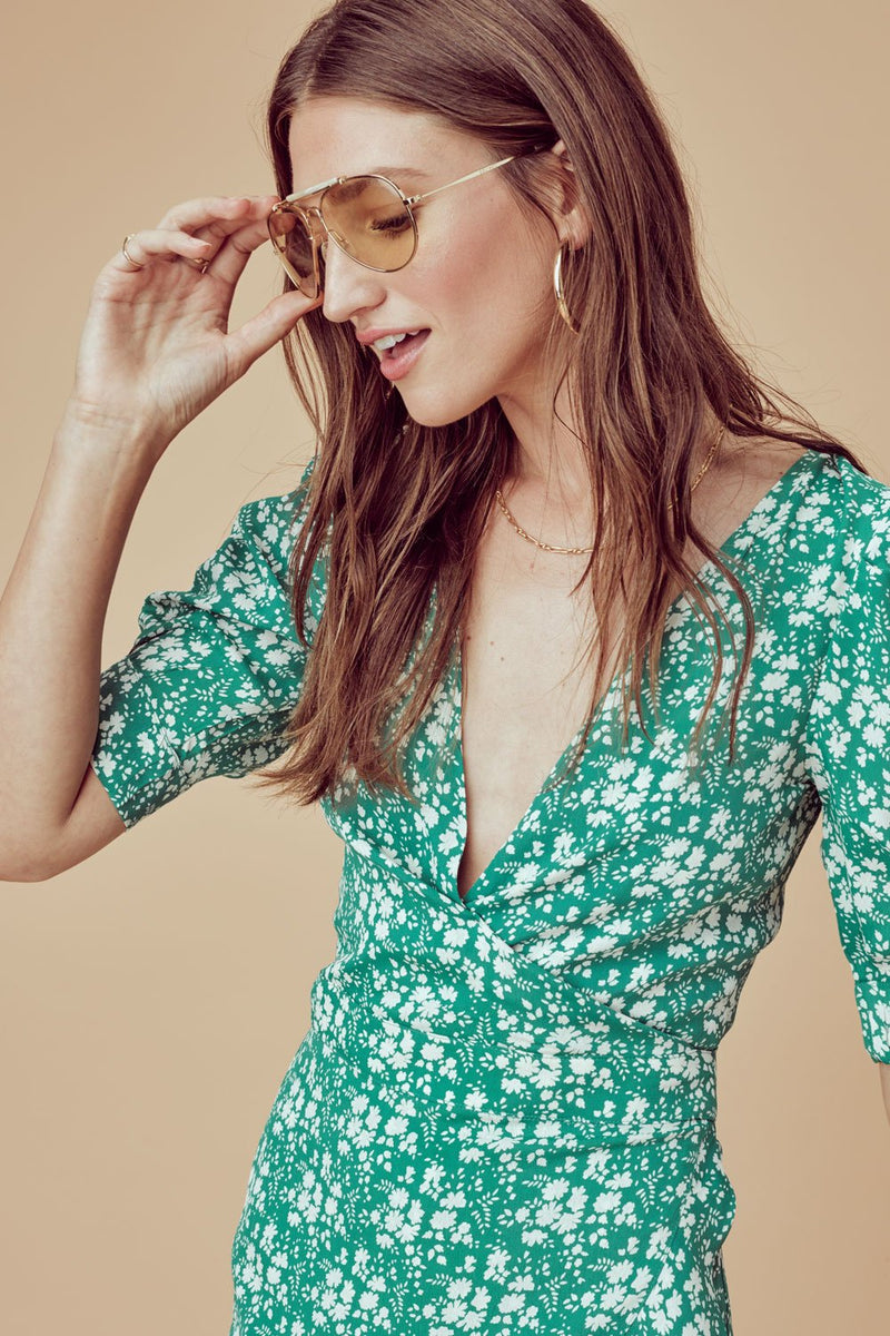 For Love and Lemons Zamira Floral Romper