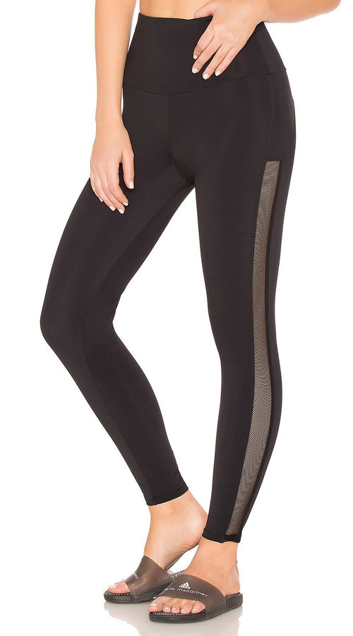 Onzie High Rise Side Runner Mesh Legging Black