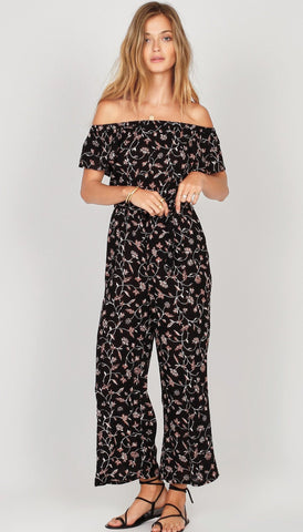 For Love and Lemons Magnolia Ruffled Jumpsuit