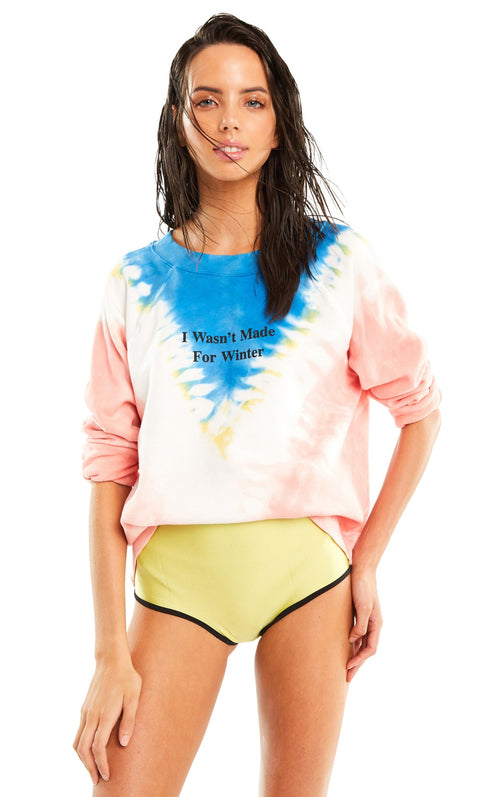 Wildfox Summer Girl Tie Dye Sommers Sweater