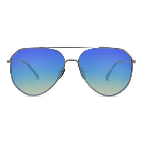Diff Eyewear Dash Sunglasses Light Gunmetal/Ice Blue Lens