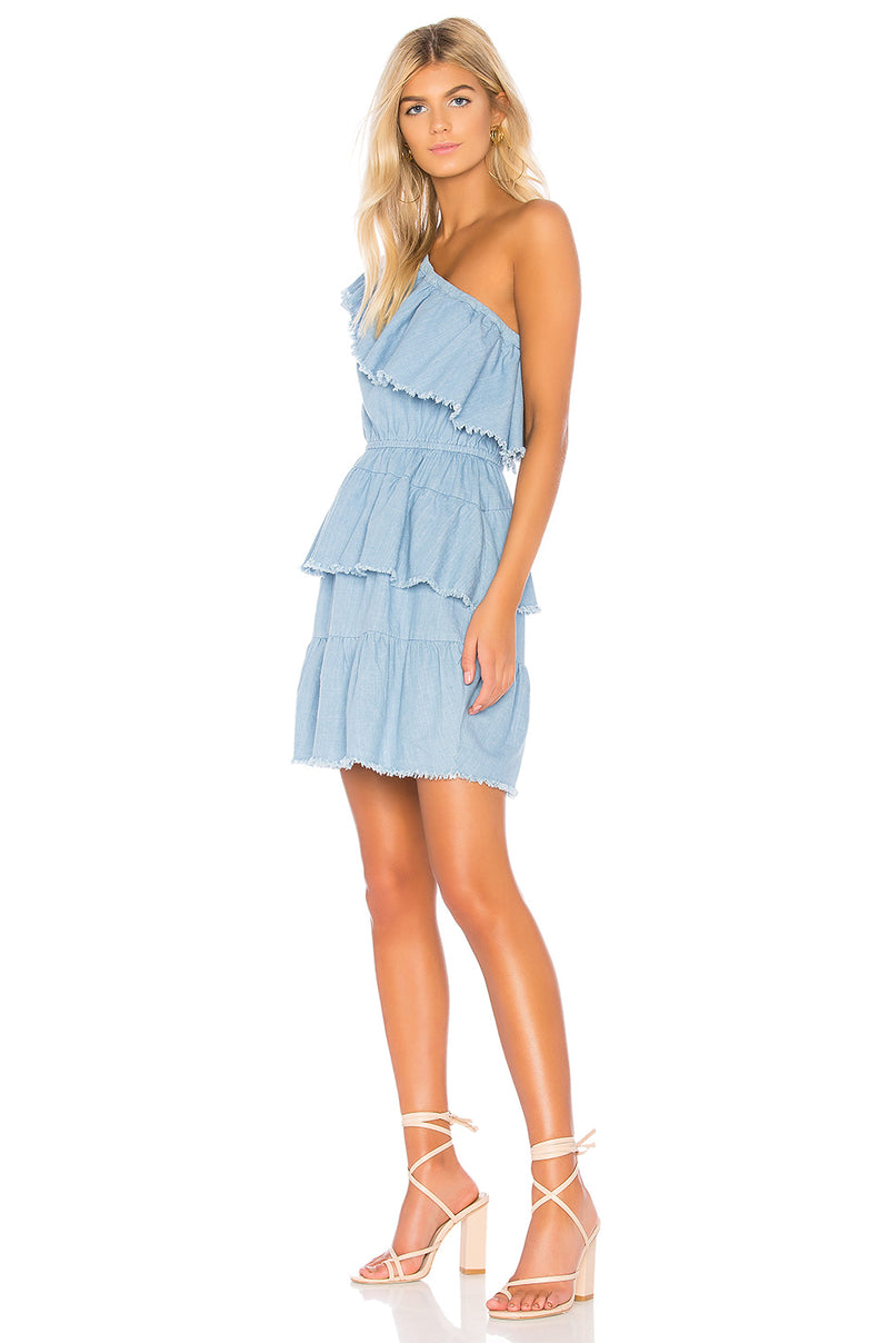 MINKPINK Ruff Stuff One Shoulder Dress