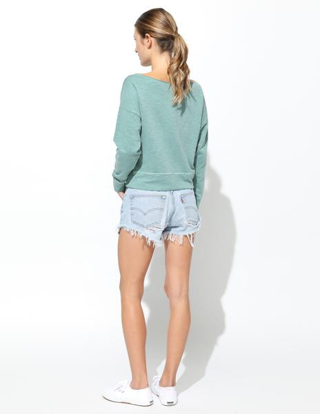 Sundry Paris Californien Raw Off The Shoulder Sweater