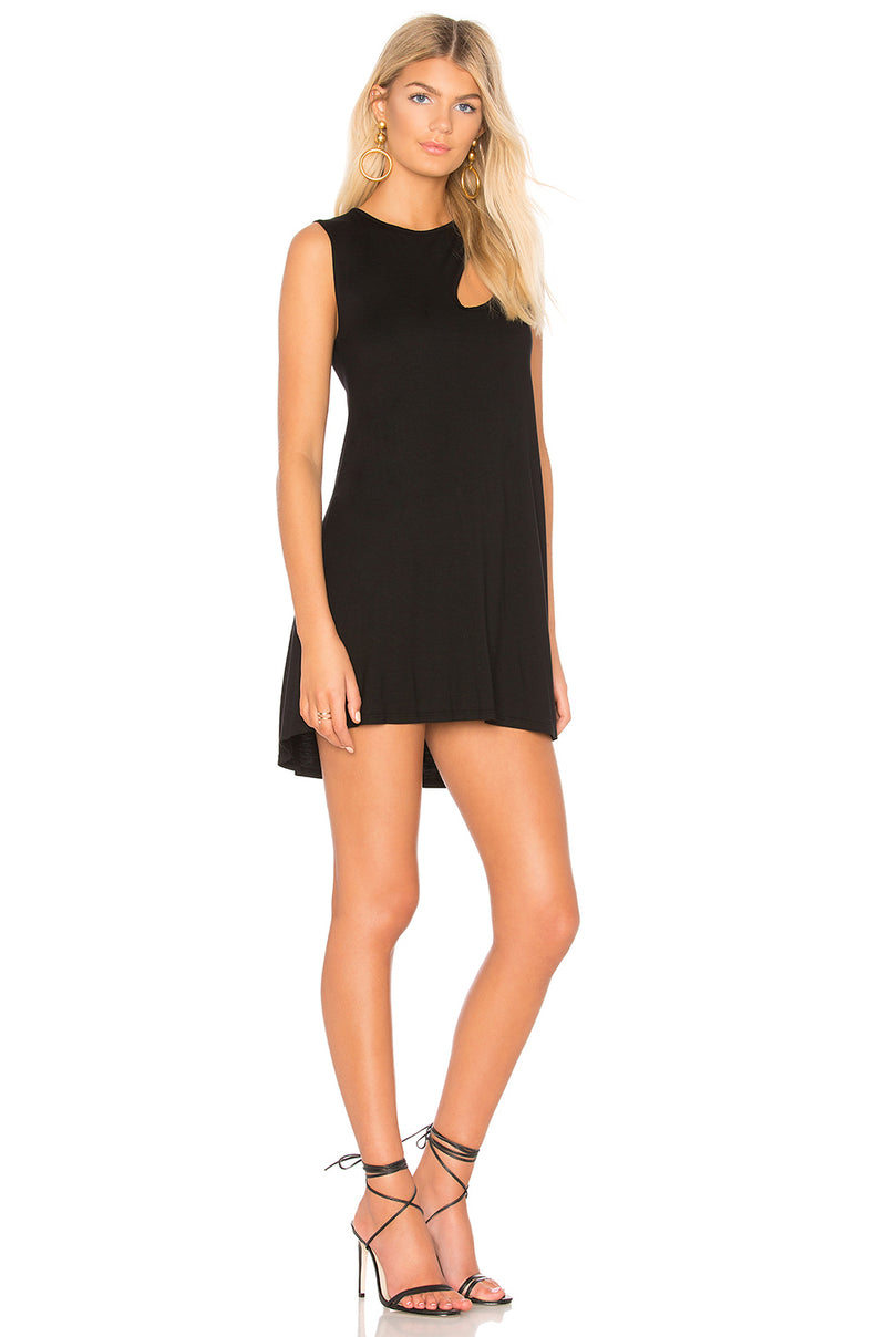 Michael Lauren Baldwin Cut Out Tank Dress Black