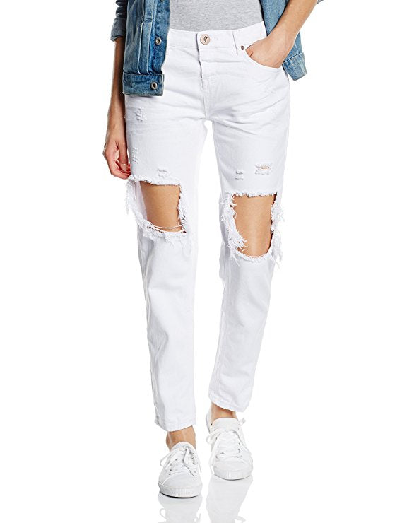 One Teaspoon White Beauty Awesome Baggies Jeans