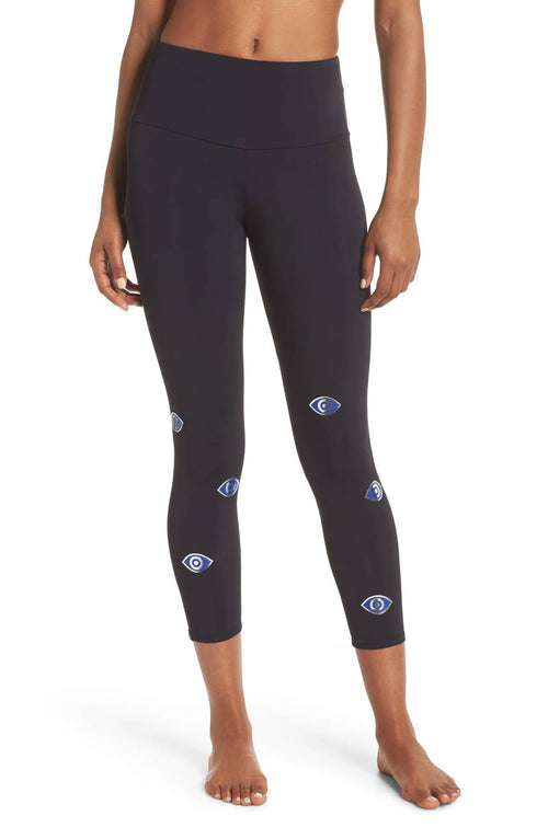 Onzie High Rise Foil Legging Evil Eye