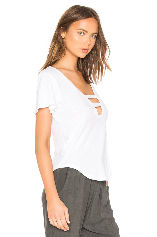 LNA Tara V Neck Tee Shirt