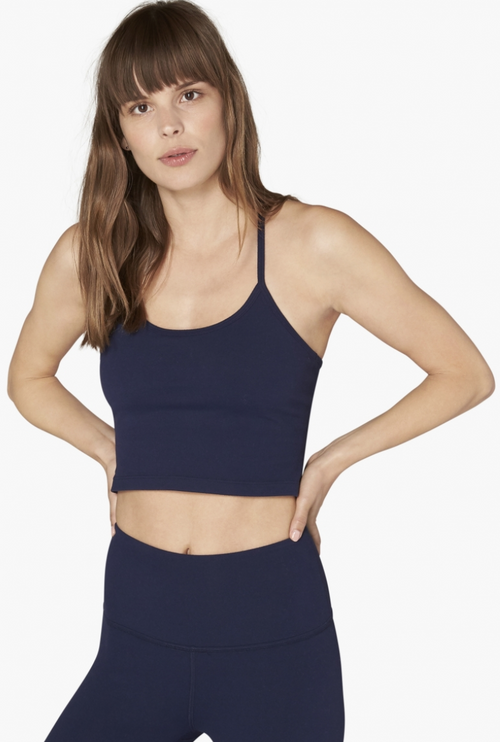 Beyond Yoga Slim Racerback Cropped Tank Nightfall