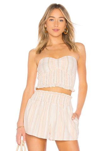 Tularosa Davey One Shoulder Romper Ivory