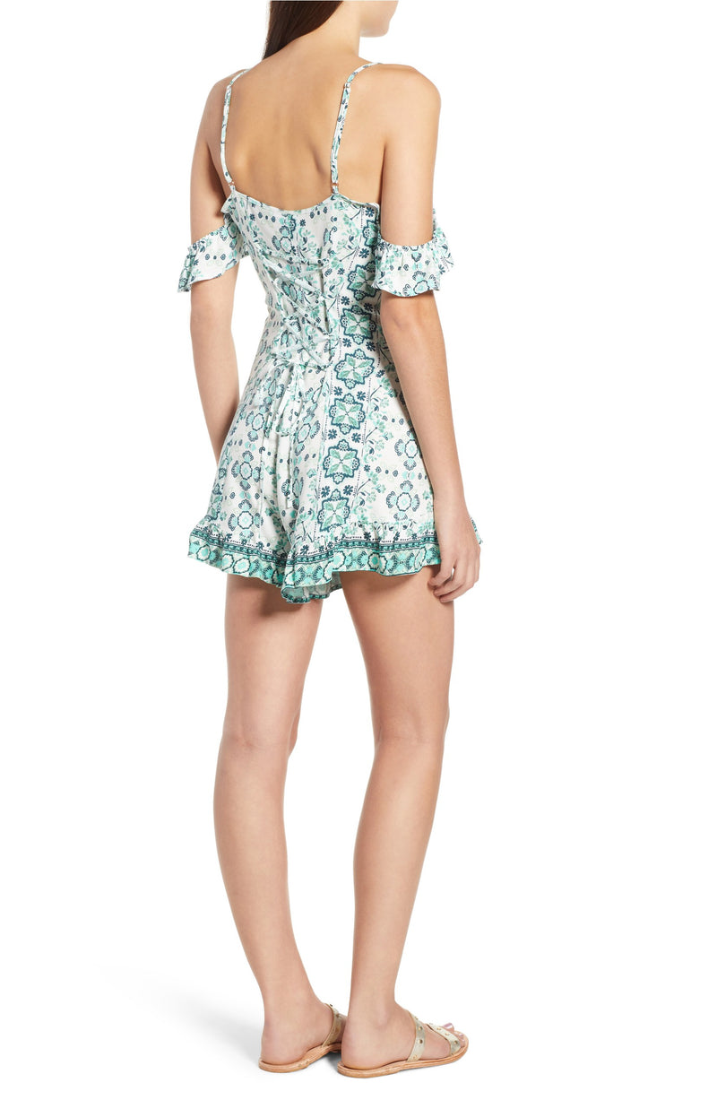 Somedays Lovin Coastal Mountain Cold Shoulder Romper