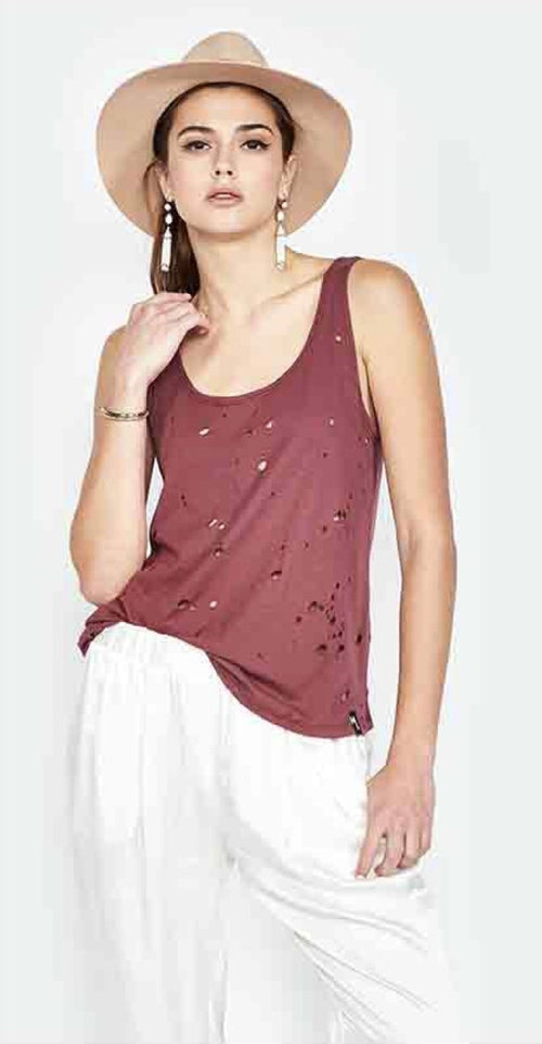 Michael Lauren Brock Classic Scoop Neck Tank Top Allure