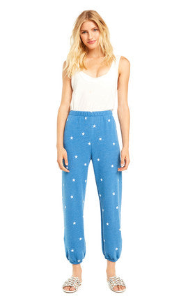 Wildfox Football Star Easy Sweat Pants
