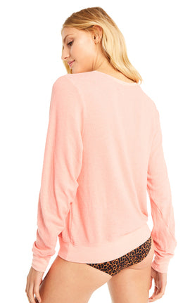 Wildfox Rose Glasses Baggy Beach Jumper Sweater