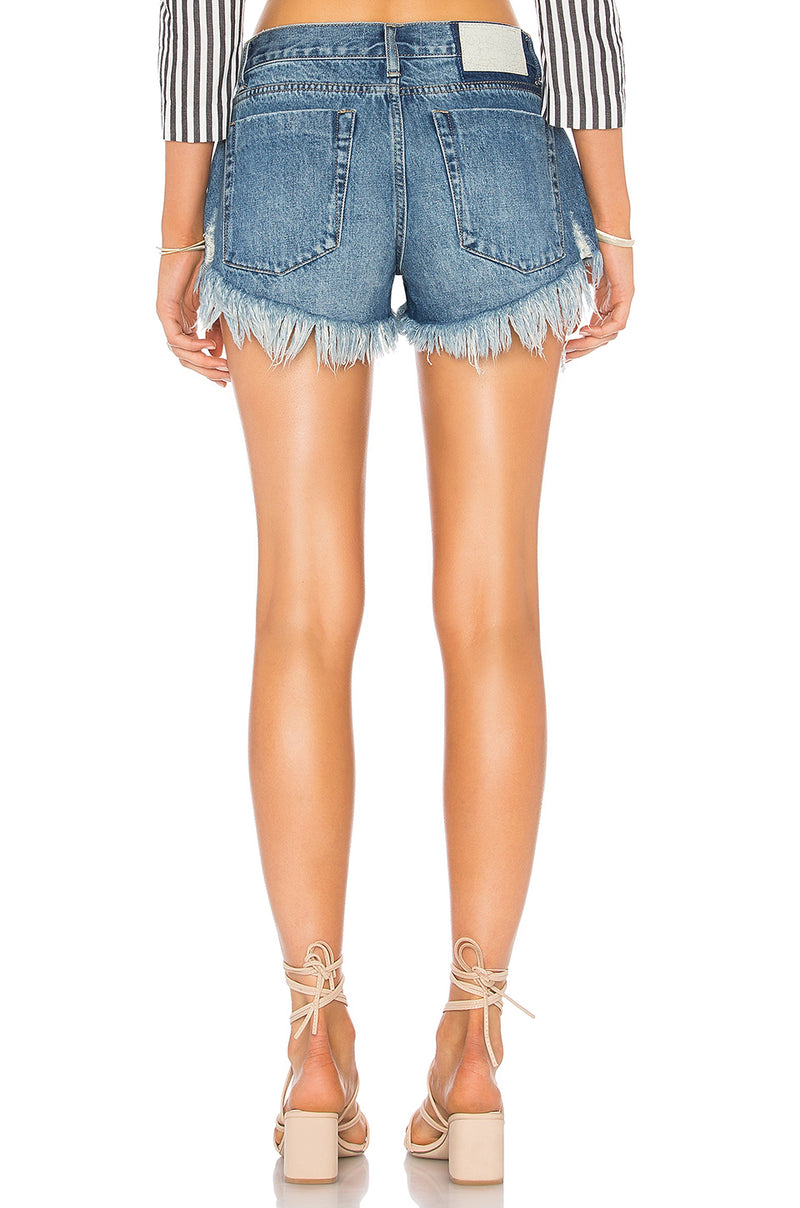 One Teaspoon Low Waist Pacifica Bonita Jean Shorts