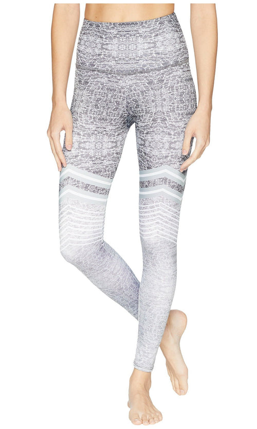 Onzie High Rise Graphite Chevron Leggings