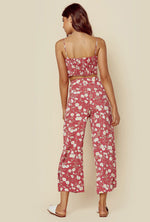 Blue Life Carley Culotte Pants Red Polka Flower