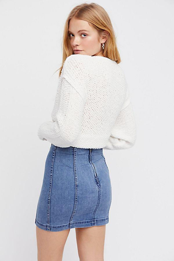 Free People Modern Femme Denim Mini Skirt