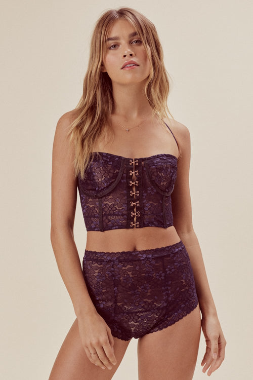 For Love & Lemons Mia Lace Underwire Bustier
