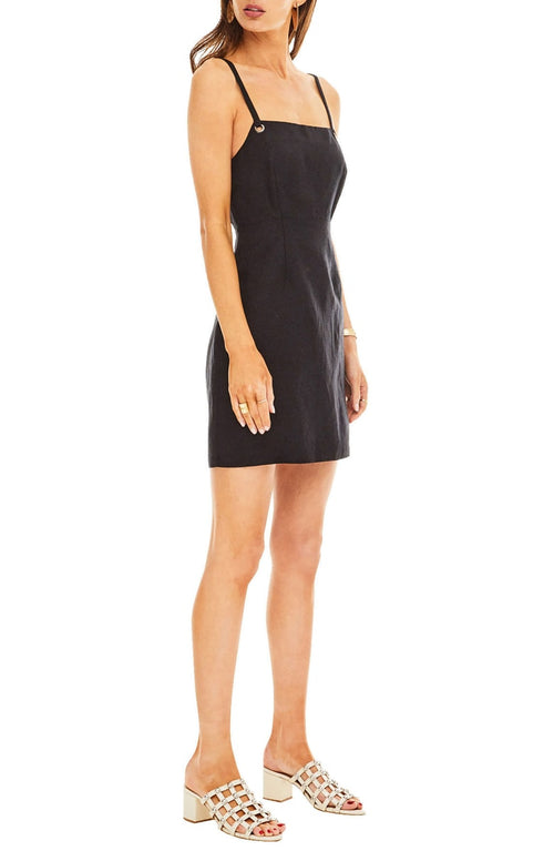 ASTR Heidi Grommet Black Mini Dress