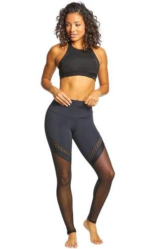 Onzie Heart Yoga Sports Bra Black Honeycomb