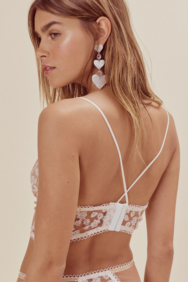 For Love and Lemons Ditzy Daisy Lace Up Bustier