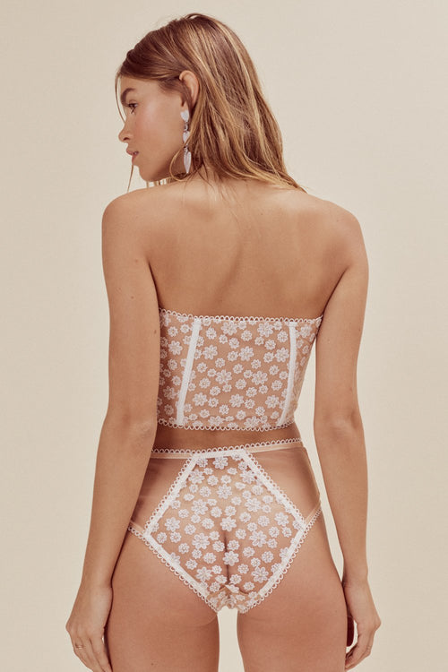 For Love and Lemons Ditzy Daisy Strapless Bustier