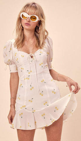For Love and Lemons Analisa Red Polka Dot Tank Dress