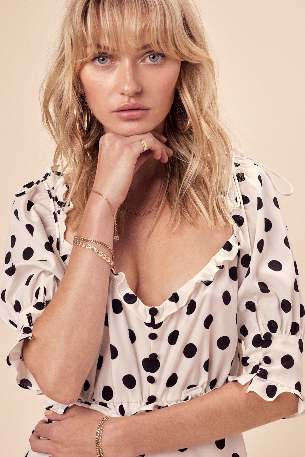 For Love and Lemons Lexington Romper Dot