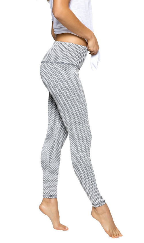 Strut This Teagan Ankle Leggings White Mosaic