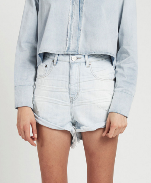 One Teaspoon Brando Bandits High Waist Denim Shorts