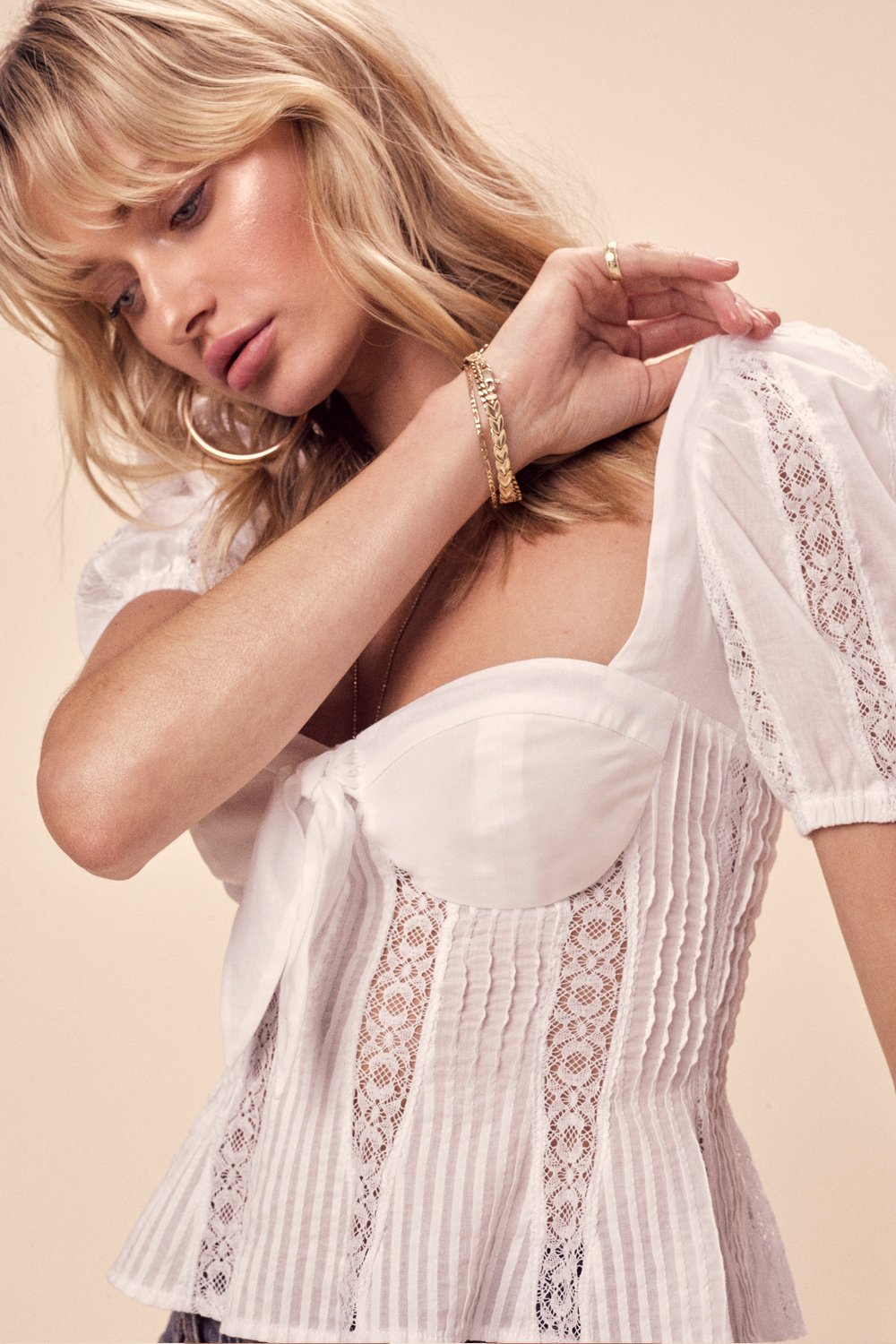 For Love and Lemons Virginia Lace Blouse Top