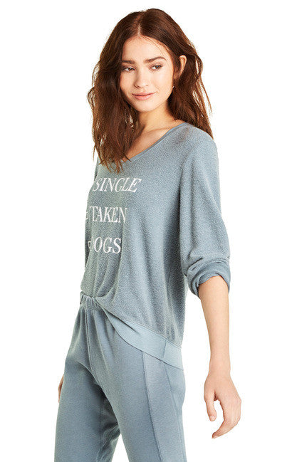Wildfox Dogs Baggy Beach V Sweater