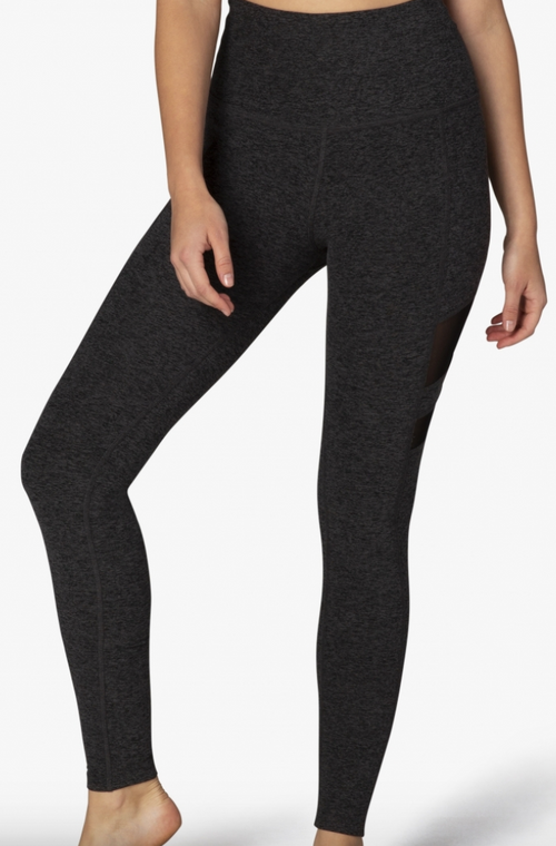 Beyond Yoga Iconic Silhouette Mesh Legging Black/Charcoal