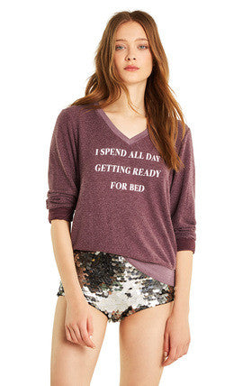 Wildfox Ready for Bed Baggy Beach V Sweater