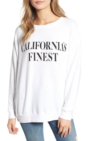 Wildfox Wild Fox Monte Crop Long Sleeve Top